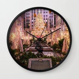 Rockefeller Center Christmas Tree Wall Clock