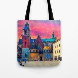 Cracow Wawel art Tote Bag