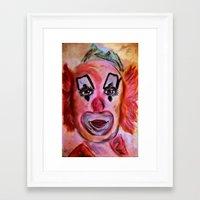 clown Framed Art Prints featuring Clown by Digital-Art
