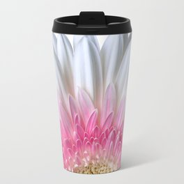 White And Pink Flower Bloom Travel Mug