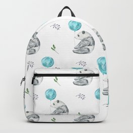 Panda Bears with Balloons Backpack