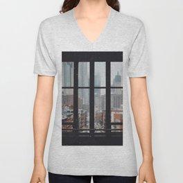 New York City Window Unisex V-Neck