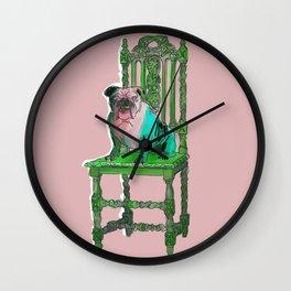 animals in chairs #17 Bulldog Wall Clock
