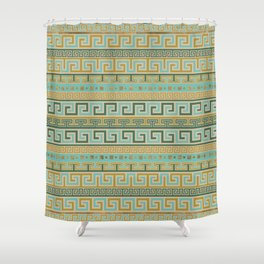 Meander Pattern - Greek Key Ornament #2 Shower Curtain