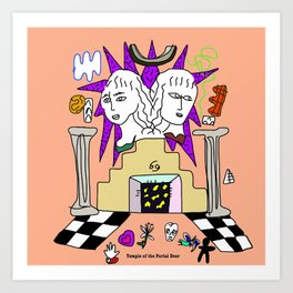 Temple of the 69 Art Print