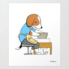 Beagle Ceramicist (Dogs with Jobs series) Art Print