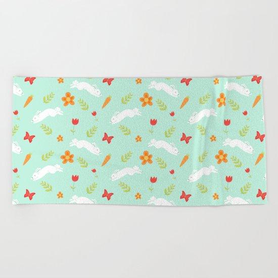 Happy Bunny Beach Towel