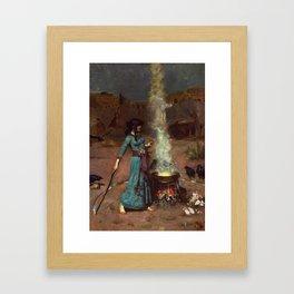 The Magic Circle John William Waterhouse Painting Framed Art Print
