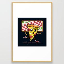 Pizza Run Framed Art Print