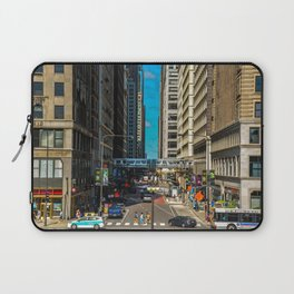 Cartoony Downtown Chicago Laptop Sleeve