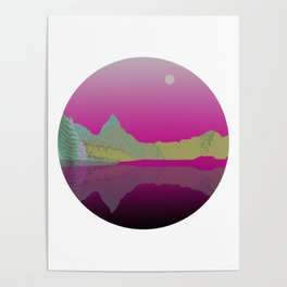 Lake With Mountains #1 Poster