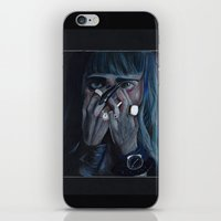 grimes iPhone & iPod Skins featuring Grimes by annelise johnson