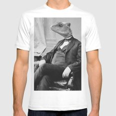 DR. LIZARD MEDIUM White Mens Fitted Tee