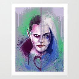 Mr J and Harley  Art Print