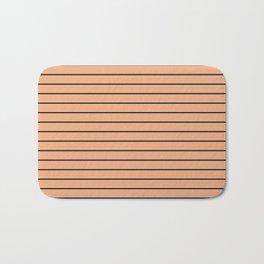 Thin Black Lines On Peach Bath Mat