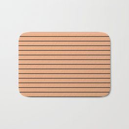 Thin Black Lines On Peach Bath Mat