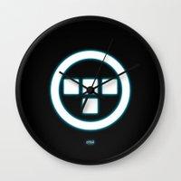 tron Wall Clocks featuring Tron Lives! by Universo do Sofa - Artes & Etecetera