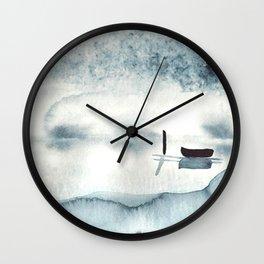 Boat on Ice Wall Clock