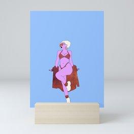 Alien Babe Mini Art Print