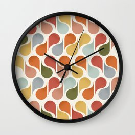 retro pattern no4 Wall Clock