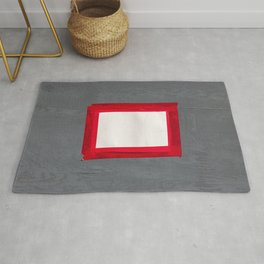 Red White Grey Rug