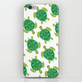 Sea Turtle – Green Palette iPhone Skin