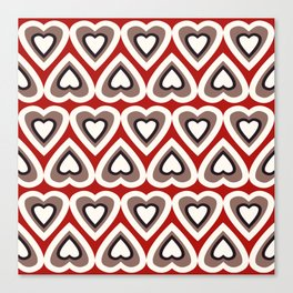 Strawberry and Chocolate Cream Love Hearts Canvas Print