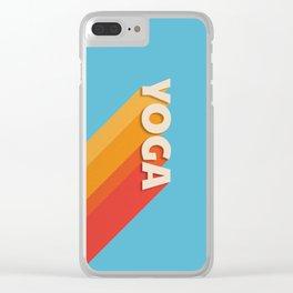 Yoga retro typography Clear iPhone Case