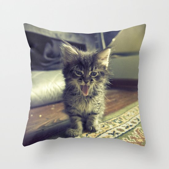 bleh! Throw Pillow