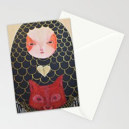 In the Thicket Hides a Foxy Spirit Stationery Cards