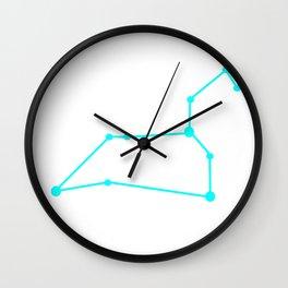 Leo (Cyan & White) Wall Clock
