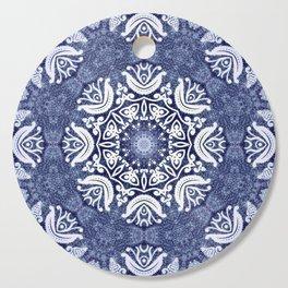 Blue snow pattern Cutting Board