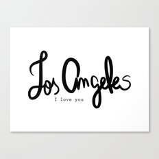 Los Angeles I love you  Canvas Print