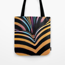 2026s-AK Striped Body Curves by Chris Maher Tote Bag