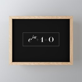 Euler's identity Framed Mini Art Print