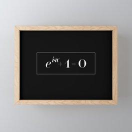 Euler's identity Framed Mini Art Print