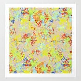 Spiral/circles textured Art Print