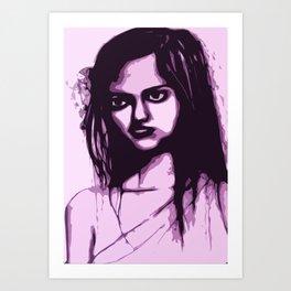 Sullen Girl Art Print