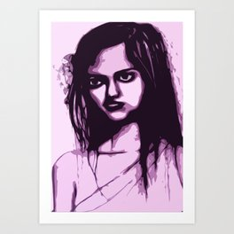 Sullen Girl Art Print
