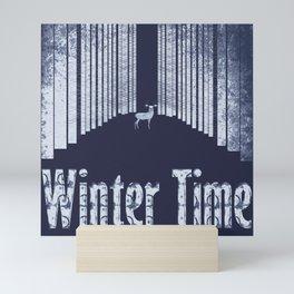 Winter time 2 Mini Art Print