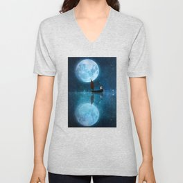 The Moon and Me Unisex V-Neck