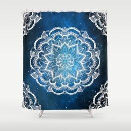 Mandala into Galactic stars Shower Curtain