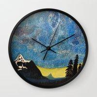 battlestar galactica Wall Clocks featuring Galactica by LightsavoursCorner
