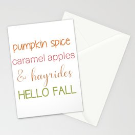 Autumn Words Stationery Cards
