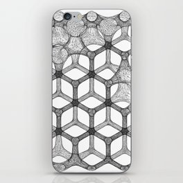 GEOMETRIC NATURE: COGNITIVE HEXAGON w/b iPhone Skin