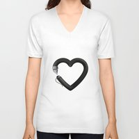 write V-neck T-shirts featuring Love to write by Colorblind
