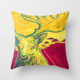 Stag Dimension of Yellow Throw Pillow