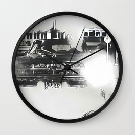 Death Drives Here Wall Clock