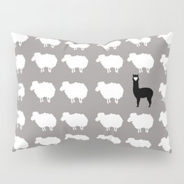 Don't be a sheep, Be a Llama Pillow Sham
