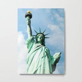 The Symbol. Staue of Liberty, New York. Metal Print